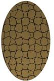 rug #399997   oval brown check rug