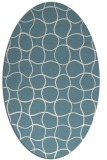 rug #400001 | oval white circles rug