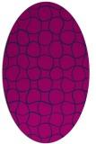 rug #400005 | oval blue check rug