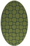 rug #400013 | oval blue check rug