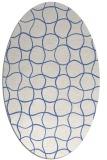 rug #400017   oval blue check rug