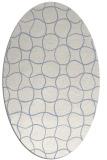 rug #400019   oval check rug