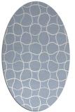 rug #400020   oval check rug