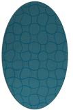 rug #400032   oval check rug