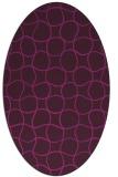 rug #400044 | oval check rug
