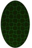 rug #400045 | oval green circles rug