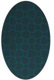 rug #400057 | oval blue check rug