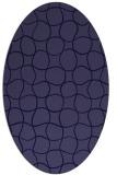 rug #400061 | oval blue-violet check rug