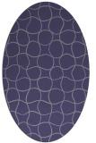 rug #400065 | oval blue-violet check rug