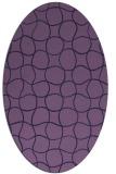 rug #400073 | oval purple check rug