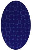 rug #400081 | oval blue-violet check rug