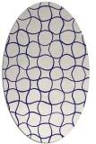 rug #400084 | oval check rug