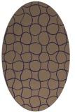 rug #400085 | oval blue-violet check rug