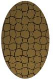 rug #400093 | oval black rug