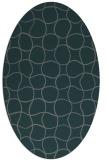 rug #400105 | oval check rug