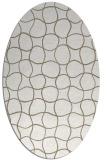 rug #400117 | oval white check rug