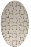 rug #400129 | oval beige check rug