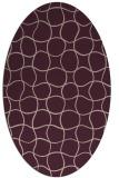 rug #400133   oval pink check rug