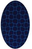 rug #400145   oval blue check rug