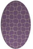 rug #400157 | oval purple check rug