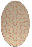 rug #400173 | oval beige check rug