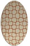 rug #400175   oval check rug