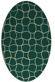 rug #400181 | oval yellow check rug