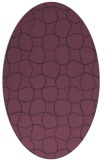 rug #400201 | oval purple circles rug