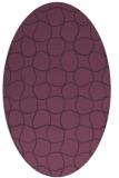 rug #400201 | oval purple check rug