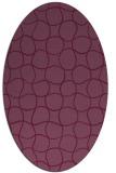 rug #400203 | oval check rug