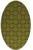 rug #400205 | oval purple check rug