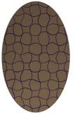 rug #400209 | oval purple circles rug