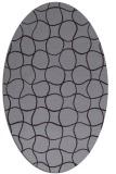 rug #400213 | oval purple check rug