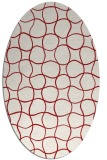 rug #400225 | oval red check rug