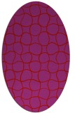 rug #400229 | oval red check rug