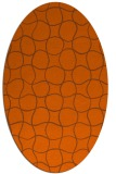 rug #400241 | oval red-orange check rug