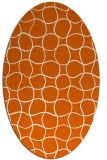 rug #400245 | oval red-orange check rug