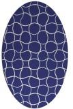 rug #400257 | oval white check rug