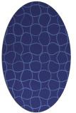 rug #400259 | oval check rug