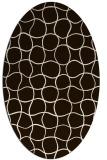 rug #400273 | oval brown circles rug