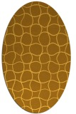 rug #400281 | oval yellow check rug