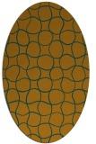 rug #400283 | oval check rug