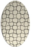 rug #400285 | oval black circles rug