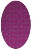 rug #400290   oval check rug