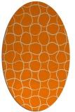 rug #400293 | oval orange circles rug