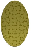 rug #400297 | oval light-green circles rug