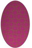 rug #400305 | oval light-green rug