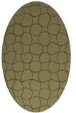 rug #400309 | oval light-green check rug
