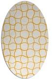 rug #400313 | oval light-orange check rug