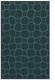rug #400401 |  blue-green circles rug